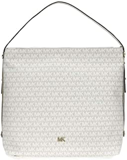 MICHAEL Michael Kors Griffin Large Logo Jacquard Shoulder Bag