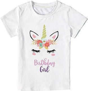 Unicorn Birthday T-Shirt, Unicorn Outfit Gifts for Girls