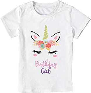Unicorn Birthday T-Shirt, Unicorn Outfit Gifts for Girls