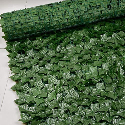 AKDSteel Valla artificial de hojas para jardín, valla de jardín, decoración de setos artificial, panel de protección de pantalla de privacidad, enrejado decorativo, hojas de patata, 0,5 m x 0,25 m