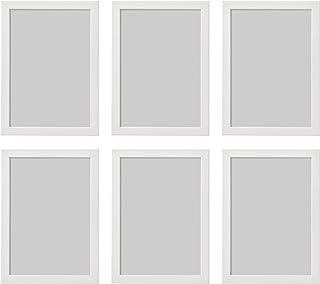 comprar comparacion Ikea Fiskbo - Marco de fotos (tamaño A4, 21 x 30 cm, 6 unidades), color blanco, Cartón, Tablero de fibras, láminas, plásti...