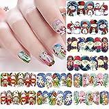 12 Sheets Christmas Snowflakes Nail...