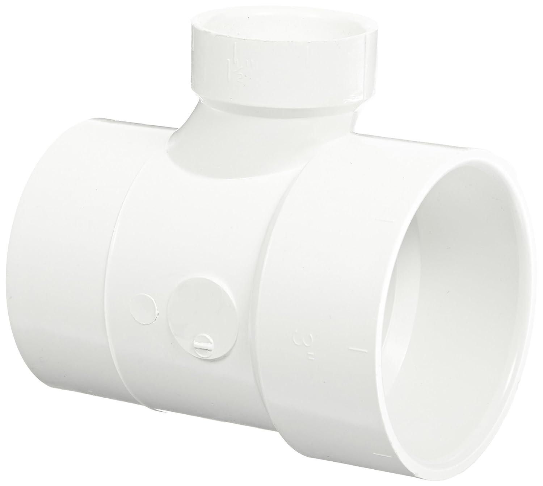Reducing Sanitary Tee 4 Spigot x 4 Hub x 2 Hub Spears P404 Series PVC DWV Pipe Fitting