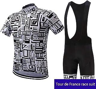 154f4e607 irugh Moda Maglia Ciclismo Jerseys per Uomo: Corta Manica Tuta Estivo +  Pantaloni Corti di