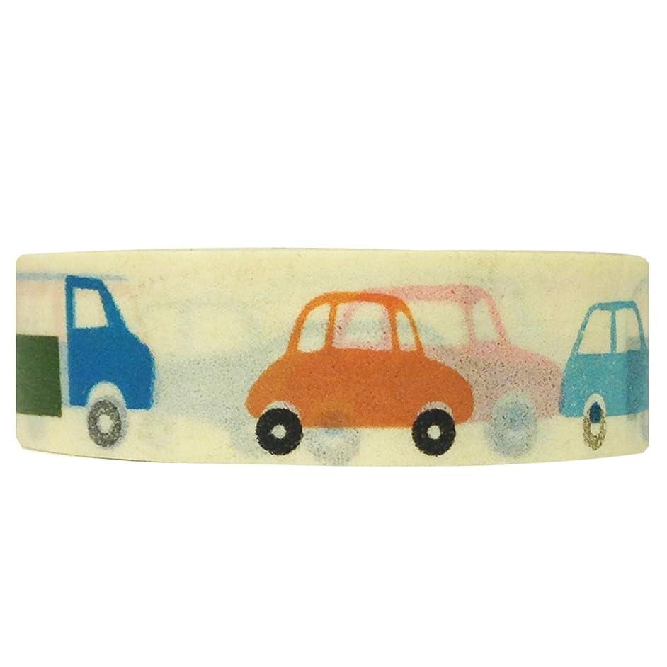 Wrapables Colorful Patterns Washi Masking Tape, Cars