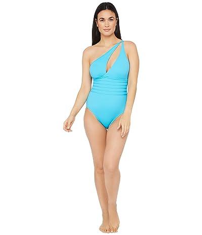 La Blanca Island Goddess One Shoulder Cutout One-Piece Swimsuit (Poolside) Women