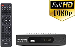 eXuby Digital Converter Box for TV Record and Watch Full HD Digital Channels for Free (Instant or Scheduled Recording, 1080P HDTV, HDMI Output, 7 Day Program Guide and LCD Screen) Includes RCA Cable