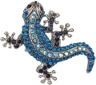 Sperrins Femmes Antique Antique Strass Vintage Gothique Gecko L/ézard Long Broche /Épingle Bleu