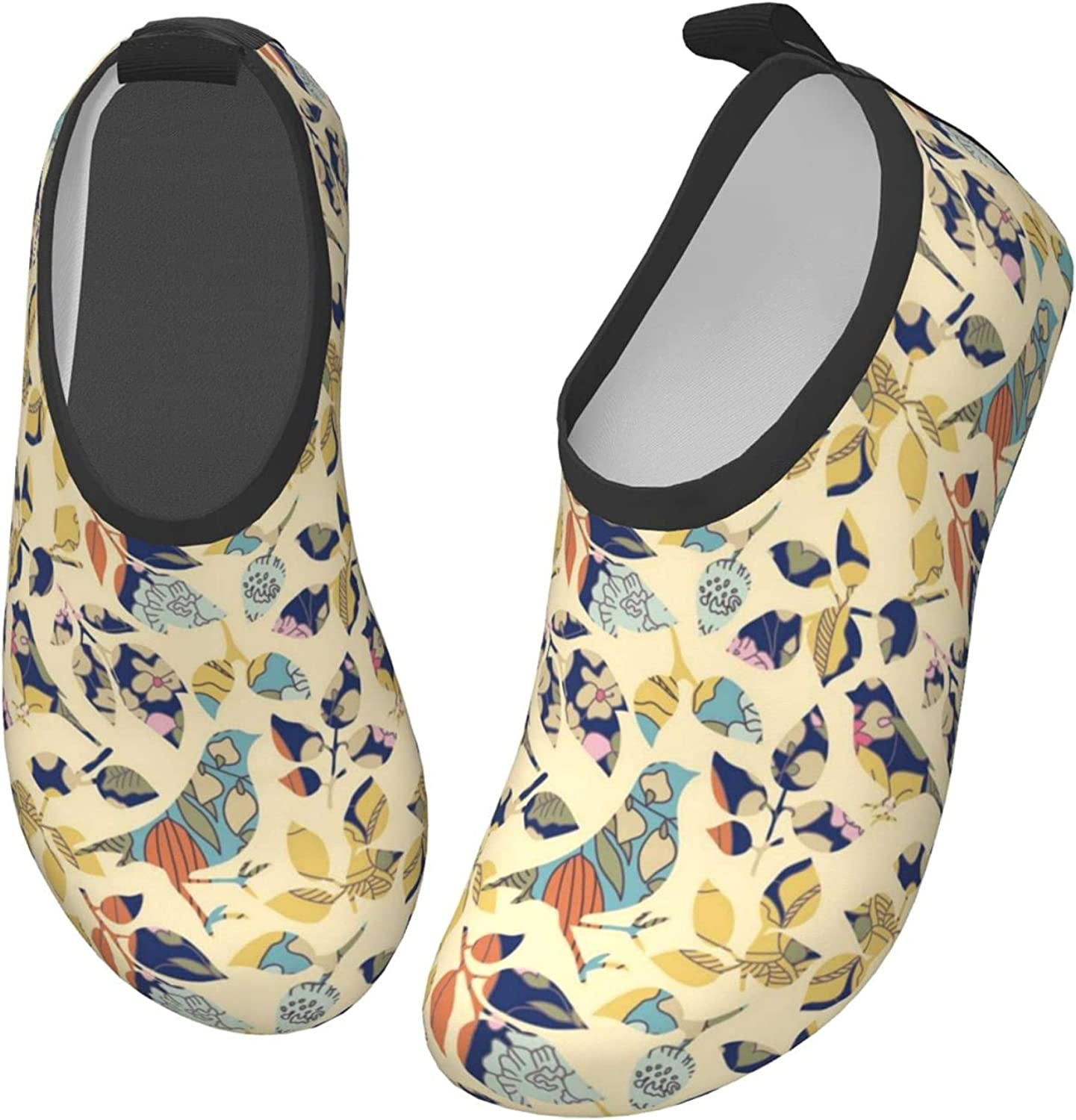 Fairy UMI Bird and Leaves Toddler Water Shoes Non-Slip Aqua Sports Shoes Barefoot Swim Shoes Beach Surf for Boys Girls