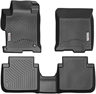 YITAMOTOR Floor Mats for Honda Accord, Custom fit Floor Liners for 2013-2017 Honda Accord Sedans, 1st & 2nd Row All Weather Protection