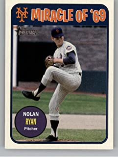 2018 Topps Heritage High Number Miracle of 1969 Baseball #MO69-NR Nolan Ryan New York Mets Official MLB Trading Card