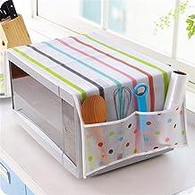 Gouen Kitchen Tool Home Impermeable Polvo de Aceite Bolsillos Dobles Cubierta del Horno de microondas Home Kitchen Tool, C