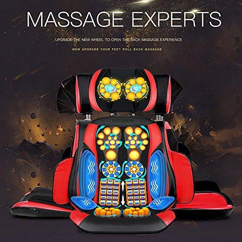 JYKJ elektrische massagestoel zitkussen massager multifunctioneel massagekussen lichaamskussen, infrarood therapie, in huis en op kantoor