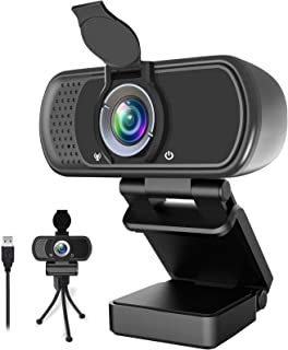 1080P Webcam,Live Streaming Web Camera with Stereo Microphone, Desktop or Laptop USB Webcam with 100-Degree View Angle, HD...