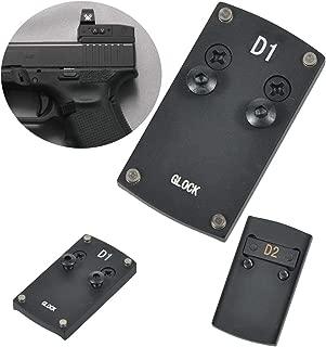 Tebul Glock Sight Mount - Glock 17 19 22 23 26 27 34 35 37 41 Pistol Rear Sight Mounting Plate Base for Mini Red Dot Sight Fit Vortex Venom Viper Burris Sightmark Vortex Micro Reflex Dot Sight