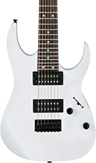 Ibanez GRG 7 String Solid-Body Electric Guitar, Right, White, Full (GRG7221WH)