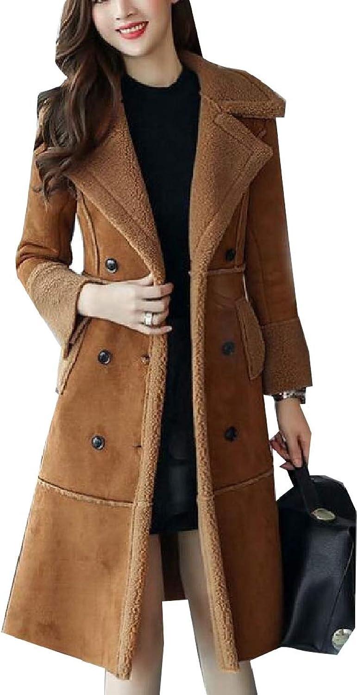 Jxfd Women Coat DoubleBreasted Wool Blend Pea Trench Overcoats