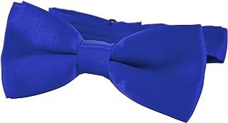 DonDon Nœud papillon avec crochet Pour enfants Garçon lié et réglable 9 x 4,5 cm brillant effet soie