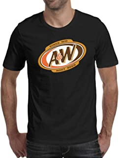 DaWang Round Collar T Shirt Men A&W-Root-Beer-Logo- Vintage Top