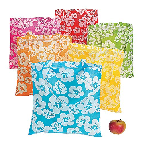 Reusable Hibiscus Tote Bags (set of 12)