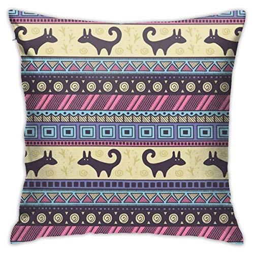 lucies Vintage Mandala Persian Boho Throw Pillow Case Soft Cushion Cover 18 X 18 Inch Decorative Pillowcases Modern Square Pillow Case Home Car Decoration