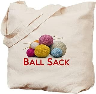 CafePress Knitting Ball Sack Natural Canvas Tote Bag, Reusable Shopping Bag