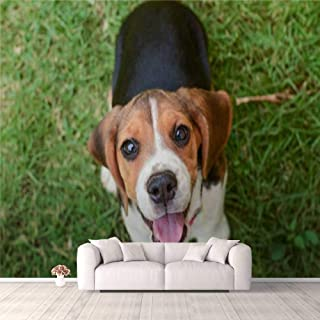 Modern 3D PVC Design Removable Wallpaper for Bedroom Living Room Beagle puppy Wallpaper Stick and Peel Wall Stickers Home ...