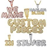 Real Solid 925 Sterling Silver Custom Bubble Letter Pendant - Personalized Name Piece - For Men Or Women - Bust Down For Any Chain - USA SELLER