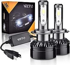 H7 LED, WZTO 2pcs Lampara H7 LED 12000LM Faros Delanteros 60W 12/24V 6000K Bombillas LED Coche Kit Impermeable, Garantía de 2 Años