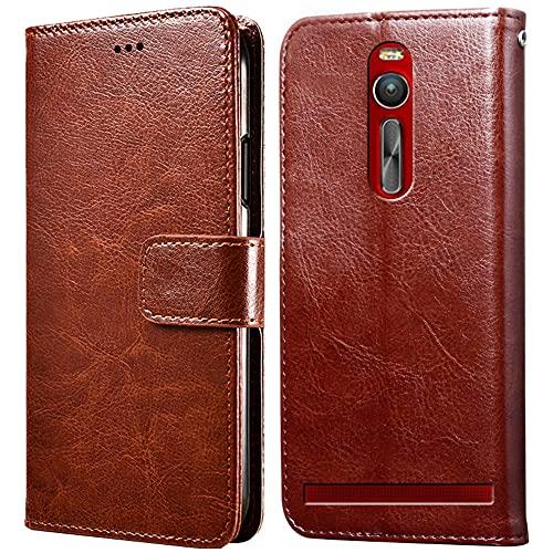 Hülle für Asus Zenfone 2 ZE551ML Handyhülle ,Klappbar Tasche Hülle,Standfunktion,Kartenfach,Silikon Bumper,Stoßfeste Schutzhülle Cover für Asus Zenfone 2 ZE551ML(5.5