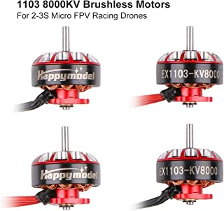 4pcs 1103 8000KV Brushless Motors 2-3S EX1103 Micro Drone Motor for Brushess Micro Quadcopter Brushless Whoop Drone Frame 105mm-110mm Micro FPV Racing Drone