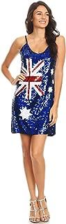 australian flag sequin dress