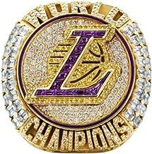 2020 NBA Lakers Championship Ring basketbal James 9-13 size Fan souvenirs replica beweging Ring Verwijderbaar met houten d...