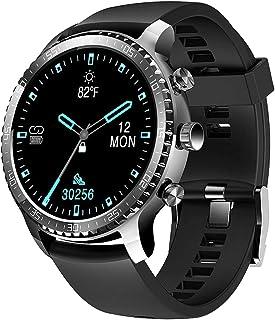 Mart Horloge voor heren, ondersteuning draadloos opladen, Bluetooth Fitness Tracker met hartslagmeter, 2020-versie Smartwa...