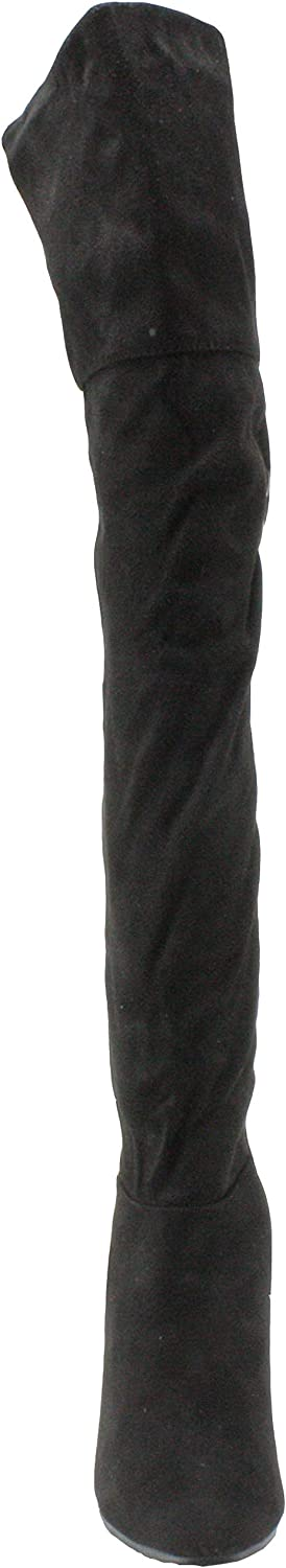 Forever Women's Tilden-12 Faux Suede Over the Knee Stiletto High Heel Dress Boots