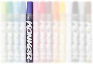 Konker Colors Acrylic Paint Markers - Endlessly Refillable - Permanent Artist Pigments - Opaque Matte Finish - Safe & Non Toxic - for Rocks Metal Wood Canvas Glass Paper Fabric - 2mm - Purple