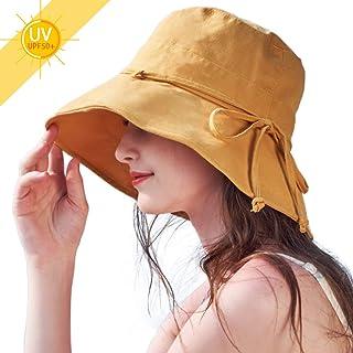 UVカット 帽子 レディース ハット 紫外線対策 日焼け防止 熱中症予防夏季 可愛い 女優帽 小顔効果抜群 軽量 無地 取り外すあご紐 つば広 日よけ 折りたたみ 自転車 海 旅行用