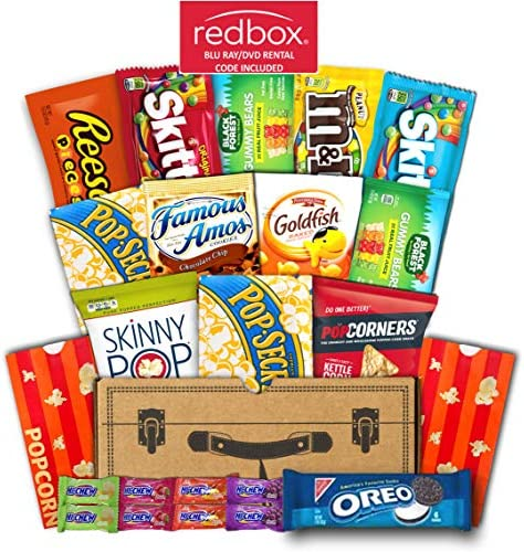 Mr Snackbox Redbox Movie Night Crunch Case Care Package 15 Count Variety Snack Gift Box College product image