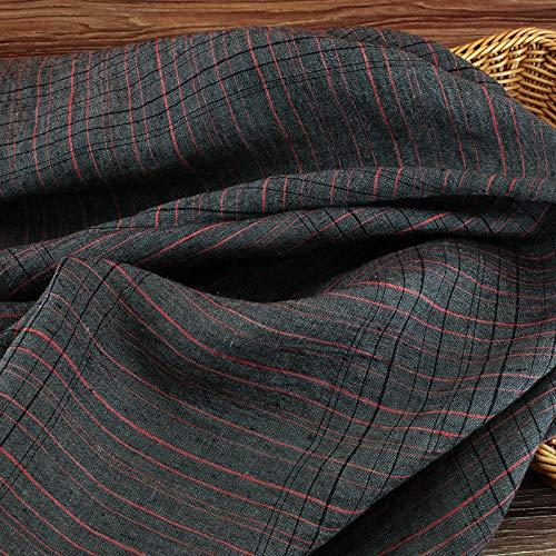 Tissu Pour Couture Au Metre- Robe En Lin À Carreaux Teint En Fil, 0,5M