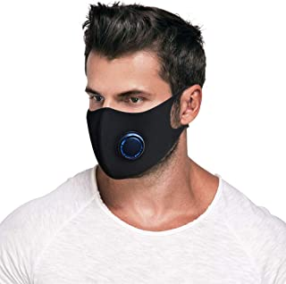 Dust Mask, Activated Carbon Dustproof Half face Mask with Airflow Valve for Exhaust Gas, Pollen Allergy, Flu Germs,PM2.5, Running, Cycling, Outdoor Activities