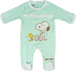 Artesania Baby-Mädchen Pelele Snoopy Strampler, Türkis Turquesa C23, One Size Herstellergröße: 18M