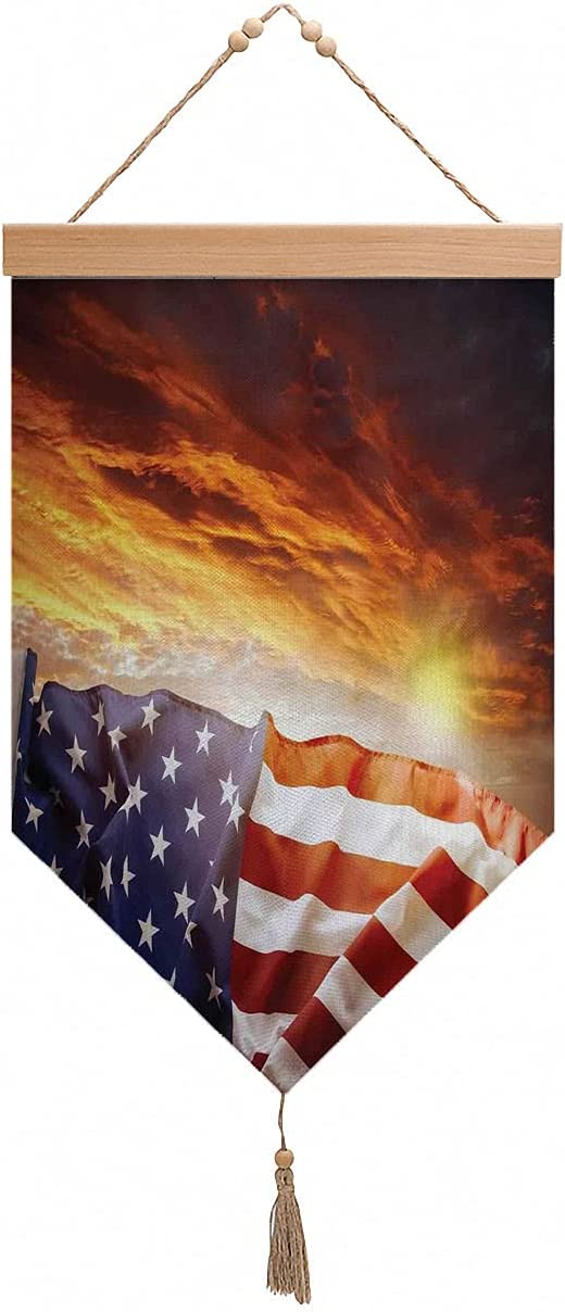 American Surprise price Flag Sunset Courier shipping free Sky Art Painting Wall Hanging
