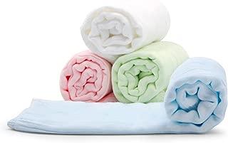 Burp Cloths Baby Muslin Cotton Burping Towels 4 Pack, 21