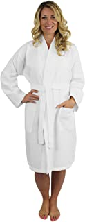 Premium Turkish Cotton Waffle Weave Lightweight Kimono Spa Bathrobe for Women