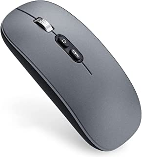 SJZERO Souris sans fil M103 Dual Mode 2.4G sans fil Bluetooth 5.1 Souris de bureau portable silencieuse rechargeable avec ...