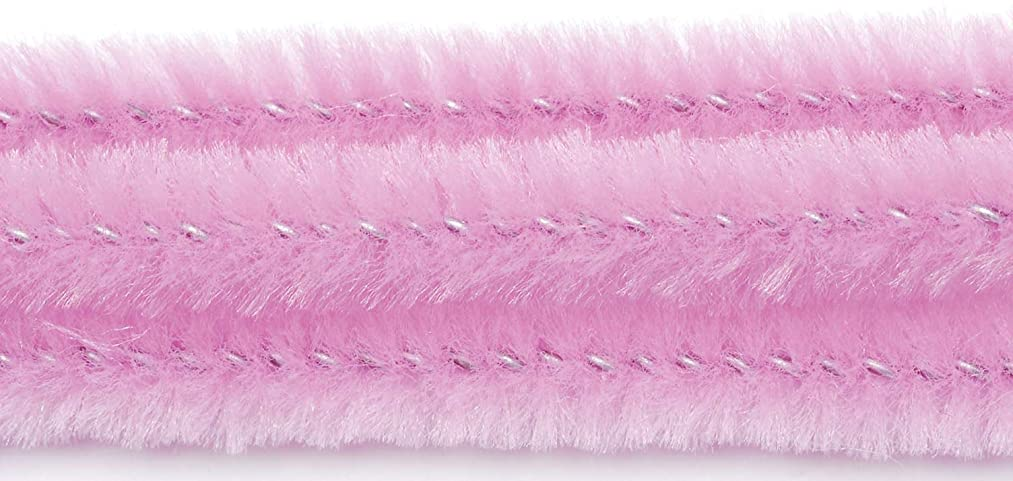 Darice Chenille Stems - 6mm - Pink - 12 inches - 100 Pieces