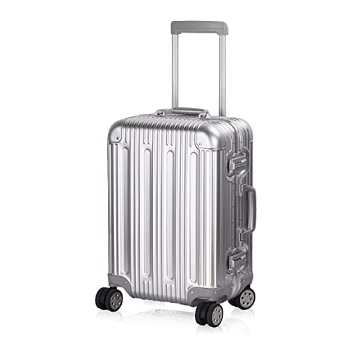 9cbd09493 Multi-size All Aluminum Hard Shell Luggage Case Carry On Spinner Suitcase  By TravelKing 20