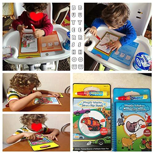 HaiQianXin Magisches Wasser-Zeichnungs-Buch-Malbuch-Gekritzel mit magischem Stift-Malerei-Brett für Kinderbildungs-Zeichnungs-Spielzeug (Color : Dinosaur)