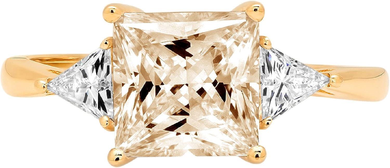 2.40 ct Princess Trillion Phoenix Mall Japan's largest assortment cut 3 stone Solitaire Accent Designer