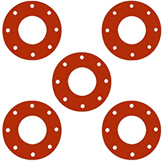 1//16 Thick Pressure Class 300# Pack of 5 Sterling Seal CRG7237.750.062.300X5 7237 Red Rubber Ring Gasket 3//4 Pipe Size 1.06 ID